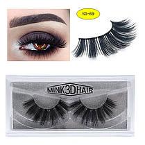 1Pair 3D Mink Волосы Black False Ресницы Макияж Косметика Handmade Thick Natural Long - 1TopShop, фото 3