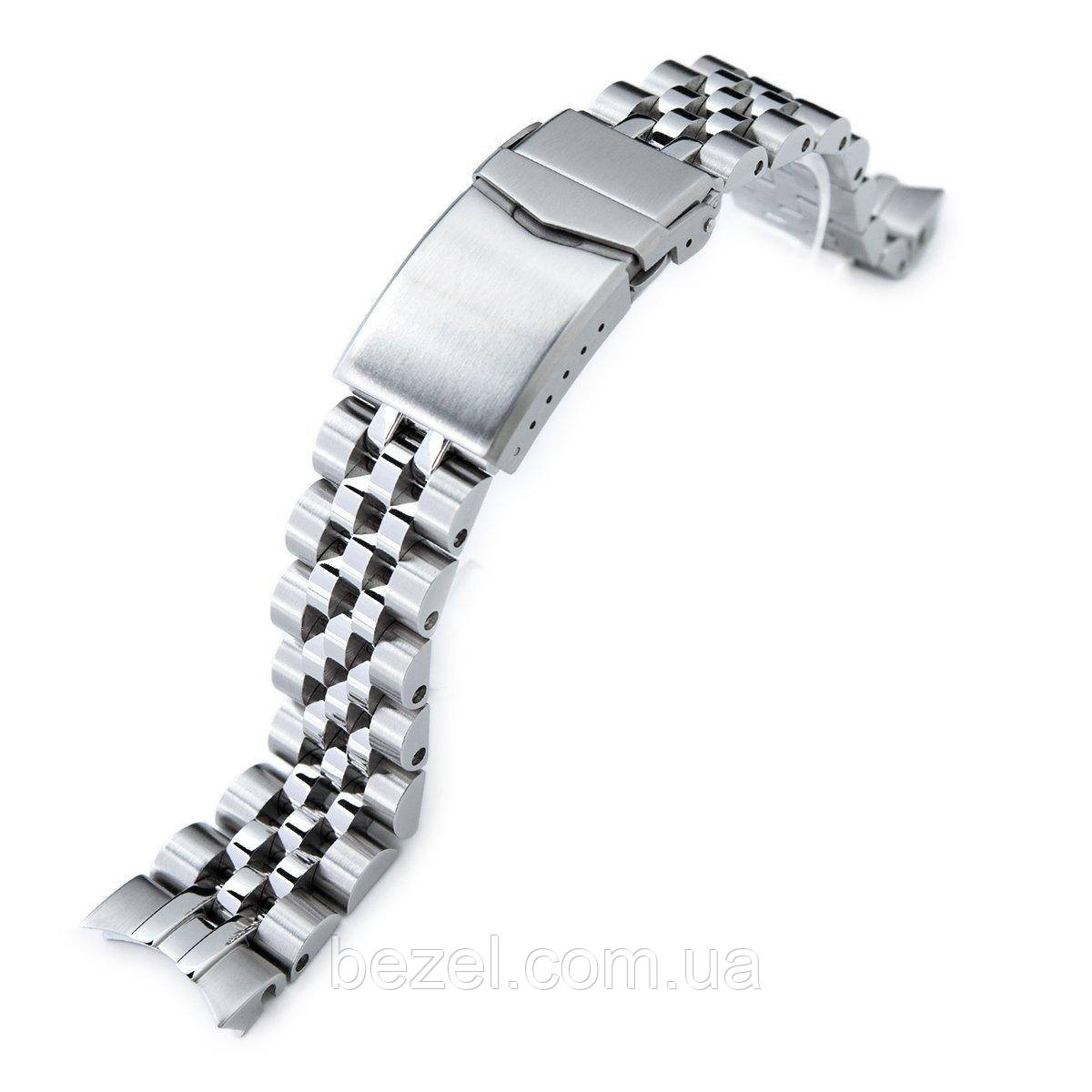20mm ANGUS Jubilee 316L Stainless Steel Watch Bracelet for Seiko SARB033, Brushed, V-Clasp
