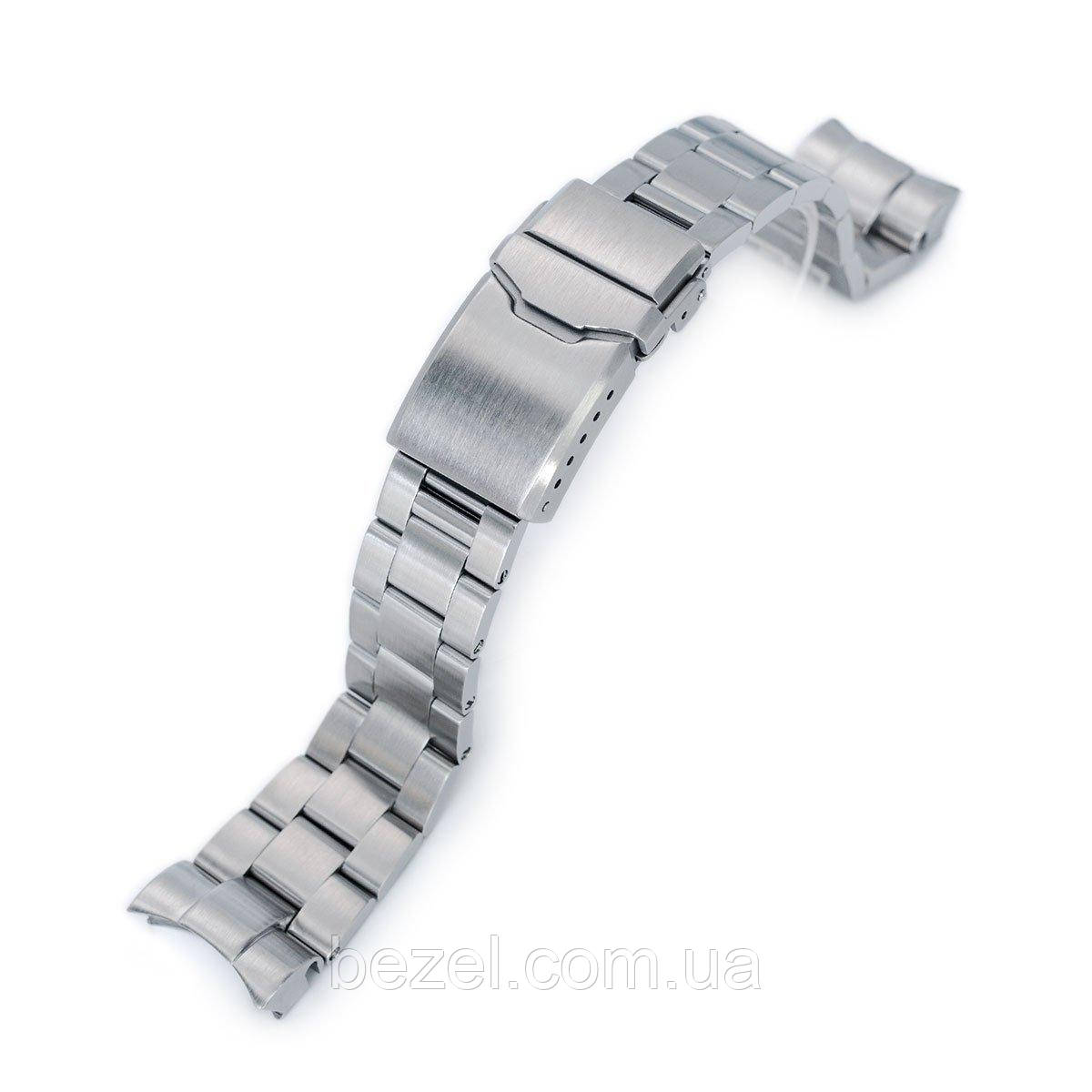 22mm Super 3D Oyster 316L Stainless Steel Watch Bracelet for Tudor Black Bay, Button Chamfer Clasp Brushed