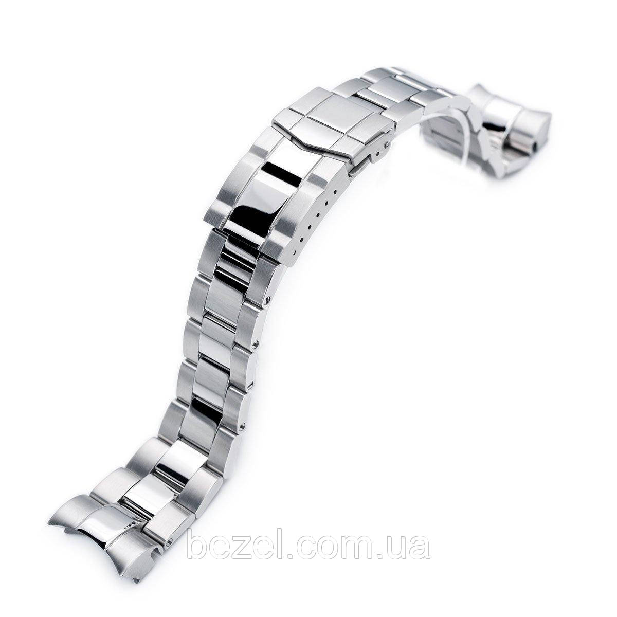 22mm Super 3D Oyster 316L Stainless Steel Watch Bracelet for Tudor Black Bay, Brushed & Polished Submariner Clasp