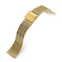 20mm Milanese Bony Wire Mesh Band, Polished IP Gold, фото 1