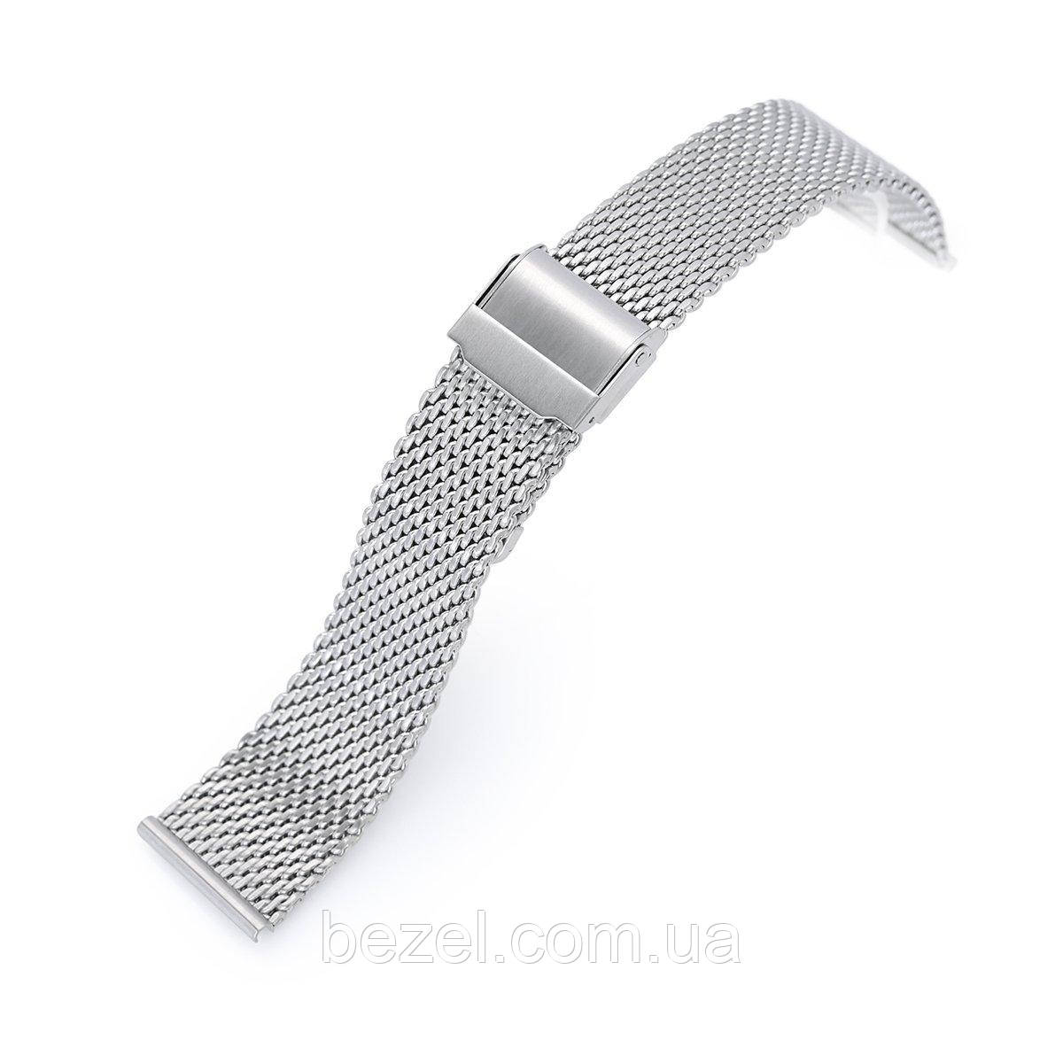 20mm, 22mm Tapered Milanese Wire Mesh Band, Brushed