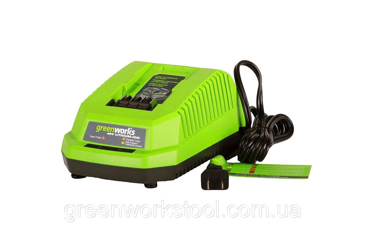 Greenworks 40V G Max зарядное устройство 29482 ( G40UC )