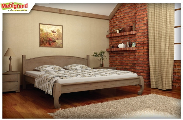 Кровать из натурального дерева Манхеттен