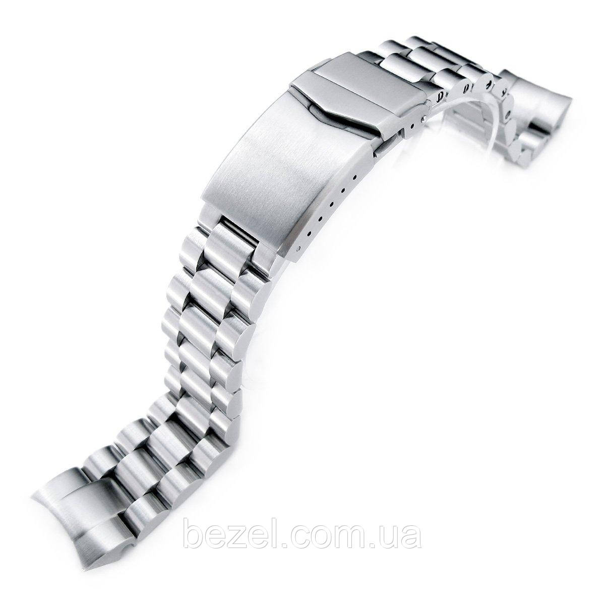 22mm Endmill 316L Stainless Steel Watch Bracelet for Orient Mako II & Ray II, V-Clasp Brushed