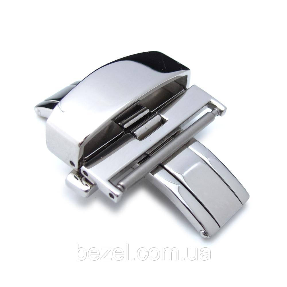 22mm, 24mm Stainless Steel Double Deployment Buckle / Clasp