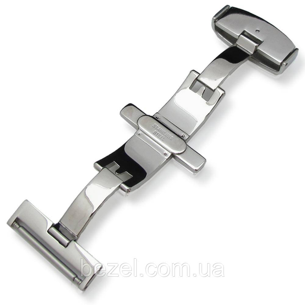 18mm Stainless Steel Double Deployment Buckle / Clasp