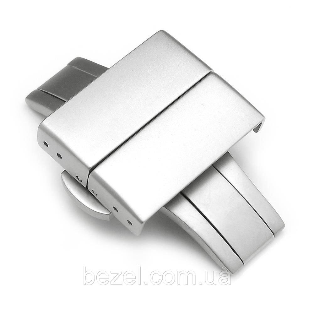 20mm, 22mm Deployment Buckle / Clasp, Sandblast Stainless Steel with Release Button