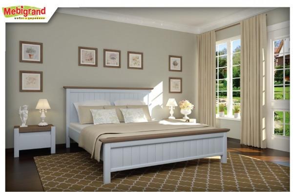 Кровать из натурального дерева Вержиния