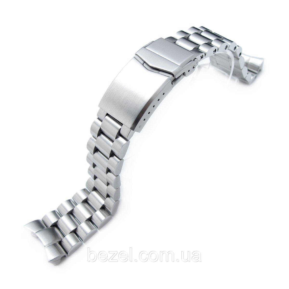 22mm Solid 316L Stainless Steel Endmill Watch Bracelet for SEIKO Diver SKX007/009/011, V-Clasp Button Double Lock