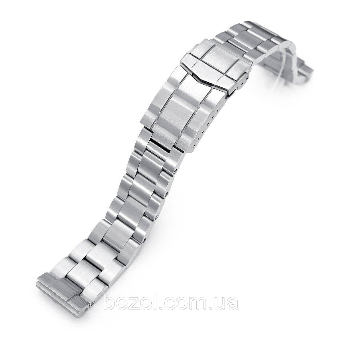 20mm Super 3D Oyster 316L Stainless Steel Watch Bracelet for Seiko SBDC053 aka modern 62MAS, Submariner Clasp, Brushed