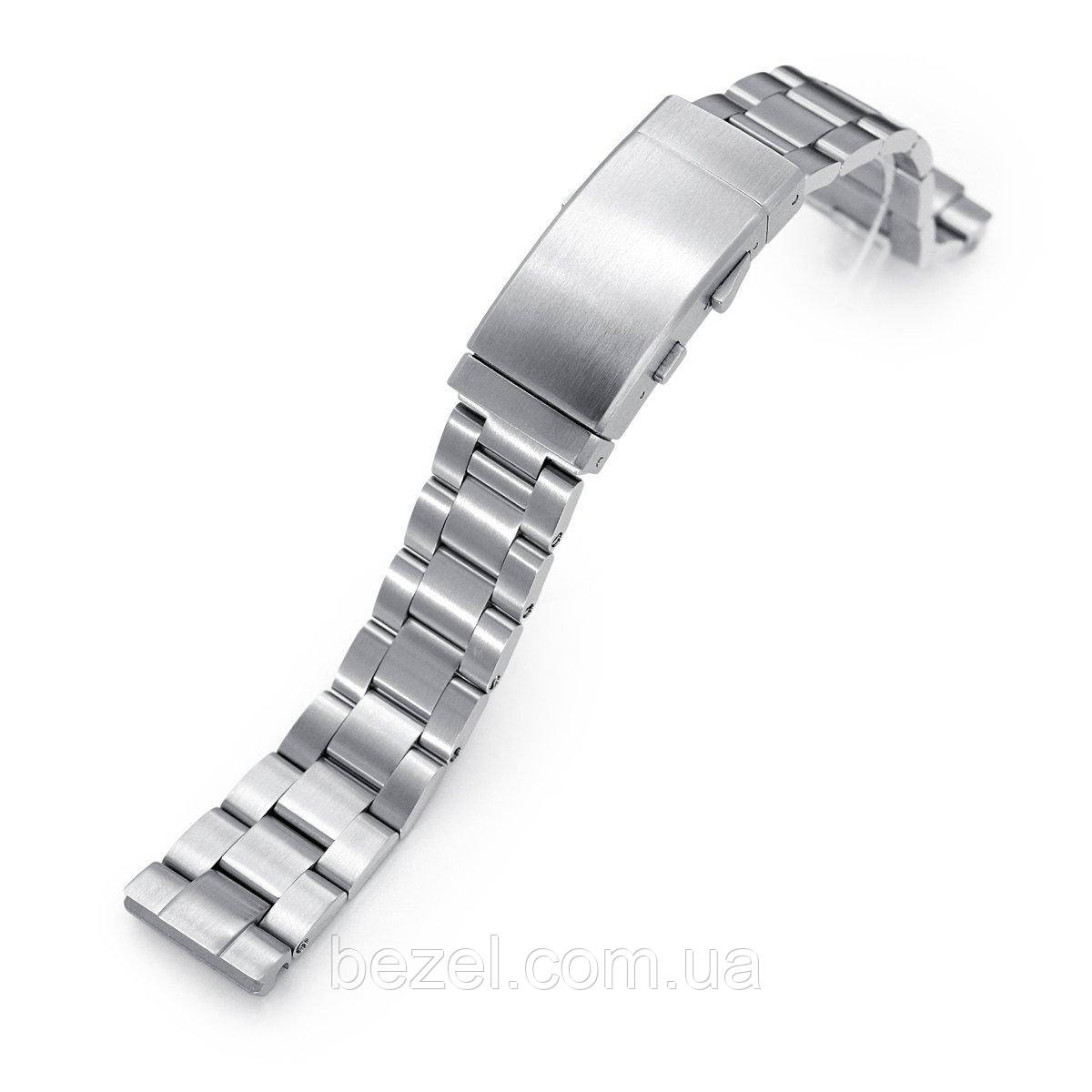 20mm Super 3D Oyster 316L Stainless Steel Watch Bracelet for Seiko SBDC053 aka modern 62MAS, Wetsuit Ratchet Buckle, Brushed