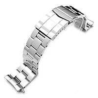 22mm Stainless Steel Super Oyster Watch Band for SEIKO Diver 6309-7040, Solid Submariner Clasp, фото 1