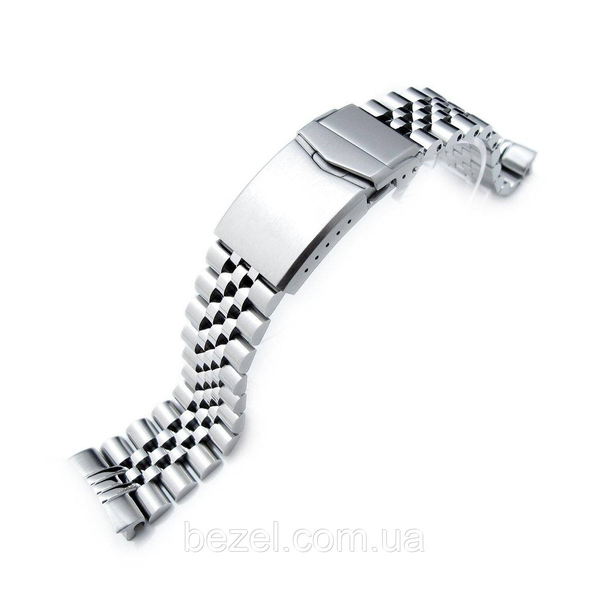 22mm Super Jubilee 316L Stainless Steel Watch Band for SEIKO Diver 6309-7040, V-Clasp Button Double Lock