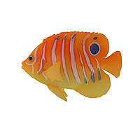 Декор для аквариума флуоресцентная рыбка Regal Angelfish orange 9,5 см