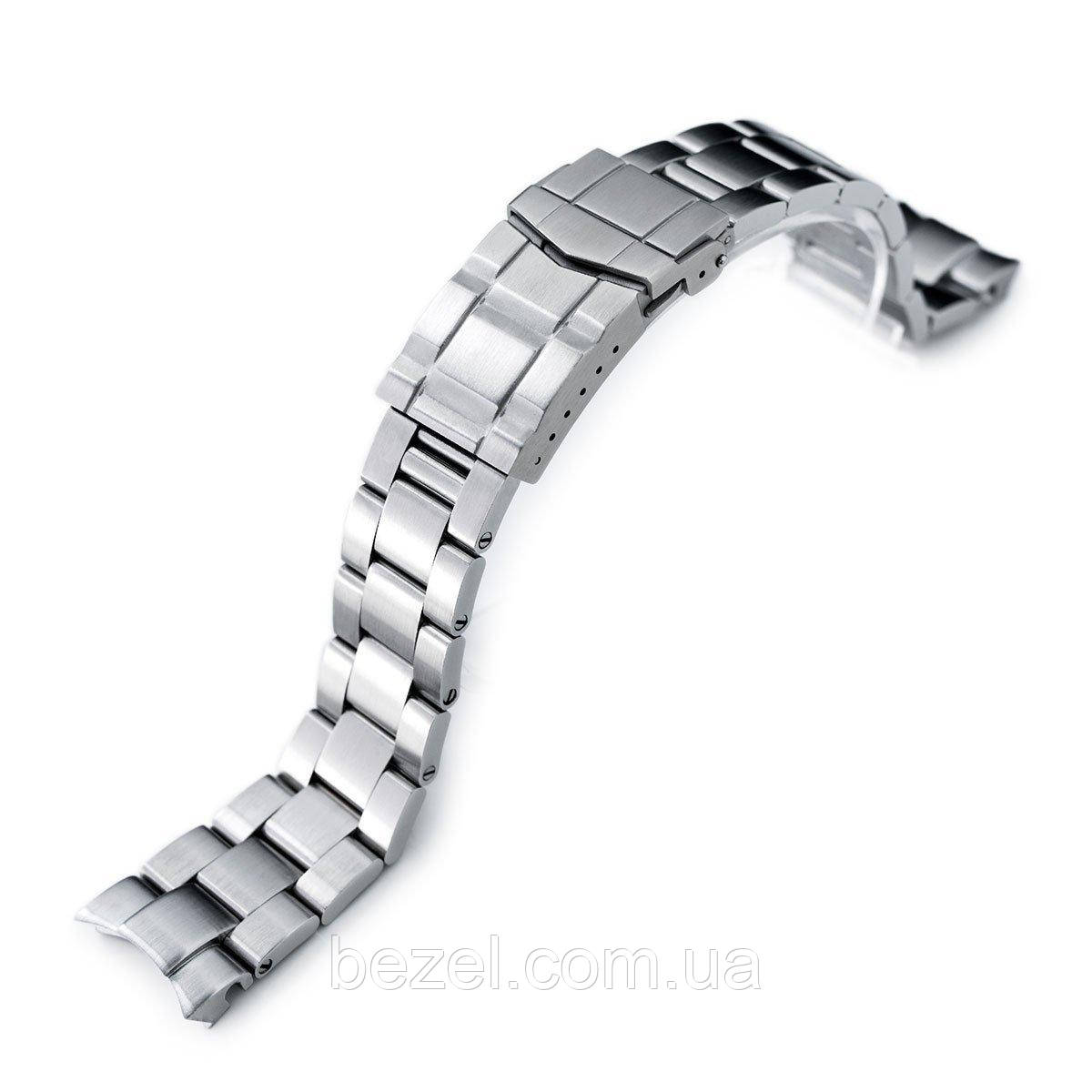 20mm Super 3D Oyster watch band for Seiko Alpinist SARB017, Brushed, Solid Submariner Clasp