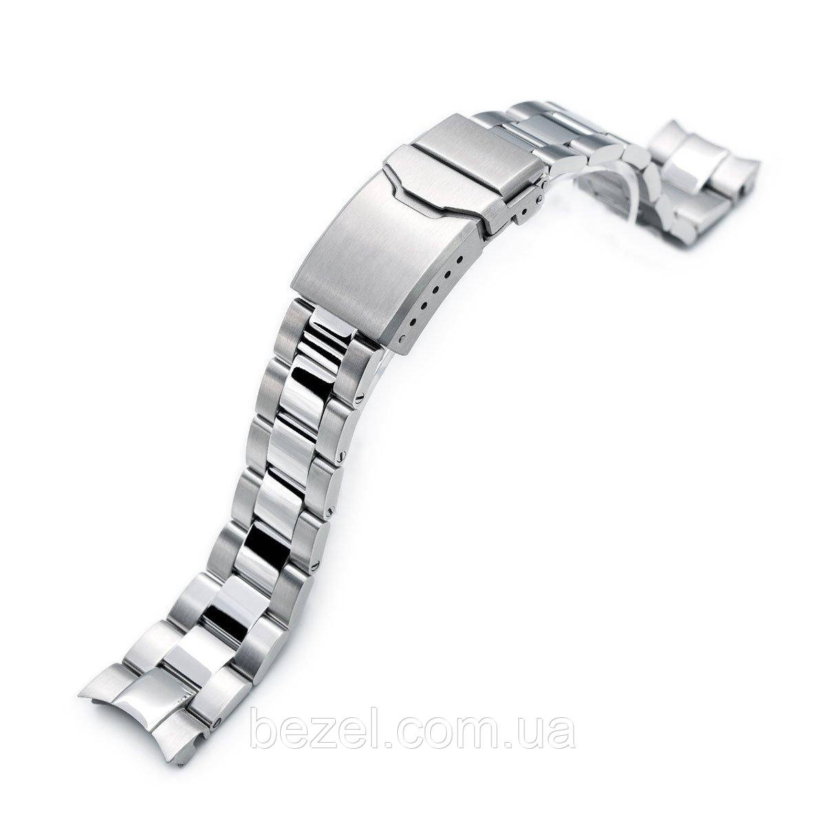 20mm Super 3D Oyster watch band for Seiko Alpinist SARB017, Button Chamfer Clasp Brushed & Polished
