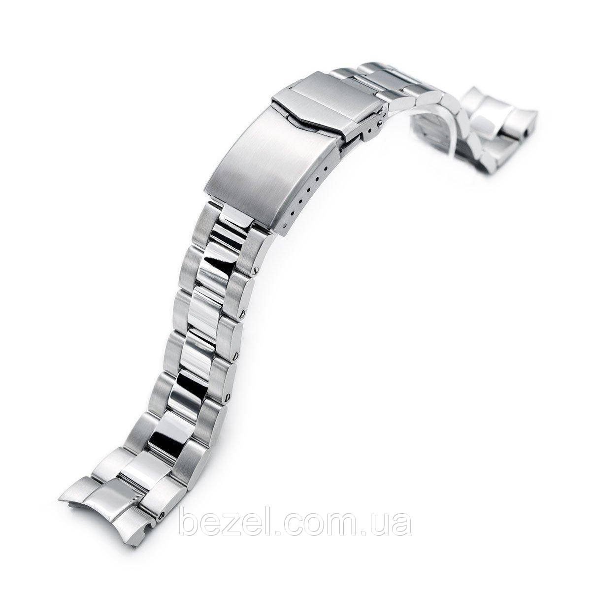 20mm Super 3D Oyster watch band for Seiko Alpinist SARB017, V-Clasp Brushed & Polished