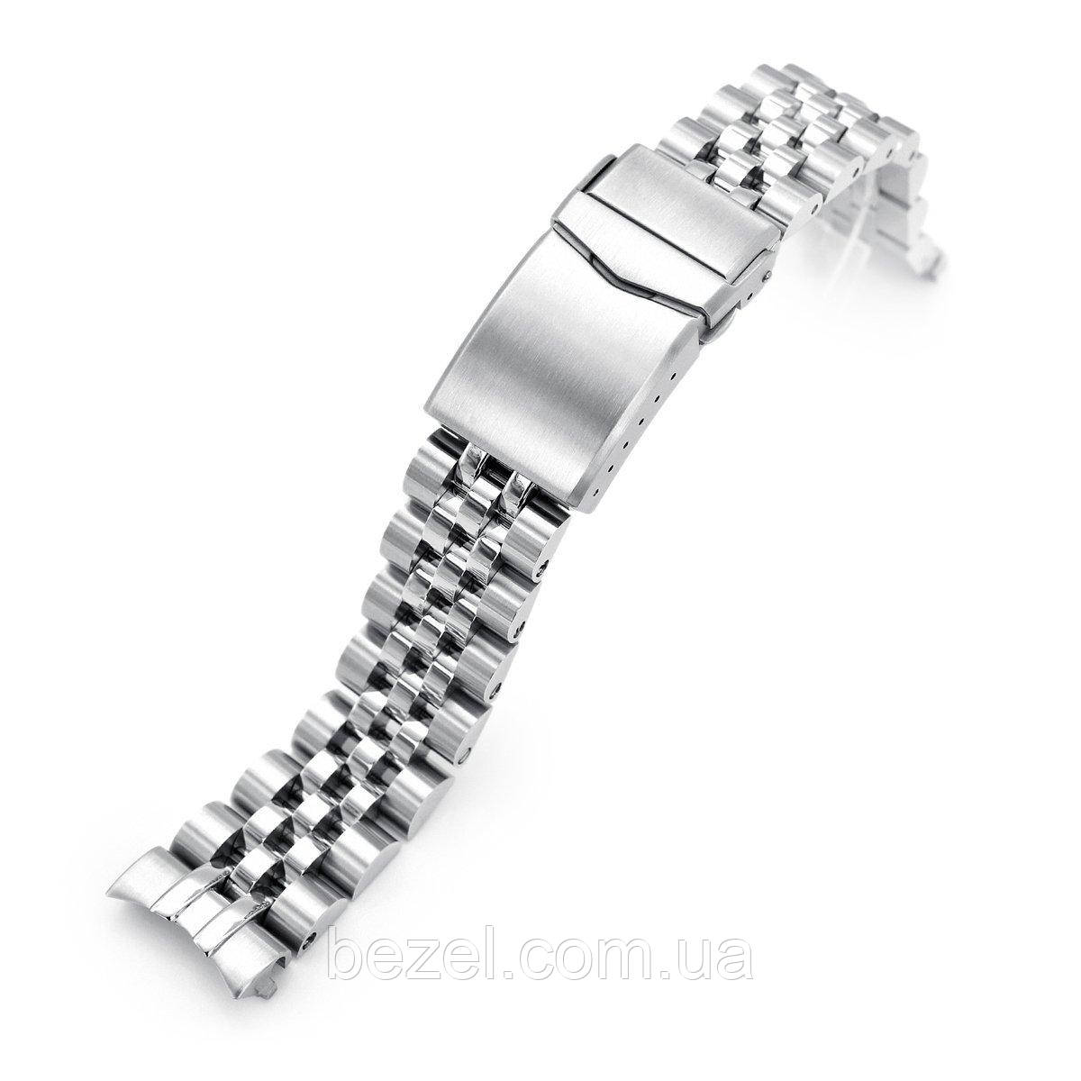 20mm ANGUS Jubilee 316L Stainless Steel Watch Bracelet for Seiko Cocktail SSA345, V-Clasp