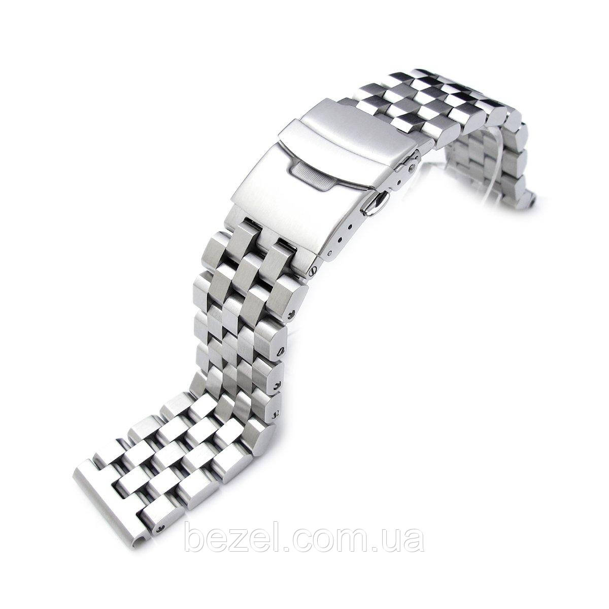 21.5mm Super Engineer II Solid Stainless Steel Watch Band for Seiko Tuna Brushed