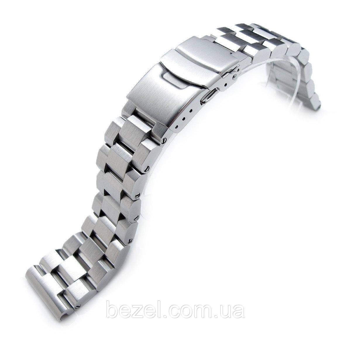 21.5mm Hexad Oyster 316L Stainless Steel Watch Band for Seiko Tuna, Diver Clasp Brushed