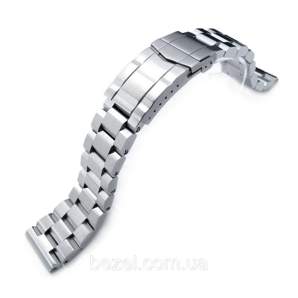 21.5mm Hexad Oyster 316L SS Watch Band for Seiko Tuna, Submariner Clasp Brushed