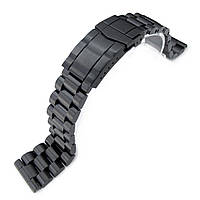 21.5mm Endmill 316L Stainless Steel Watch Bracelet for Seiko Tuna, Submariner PVD Black, фото 1