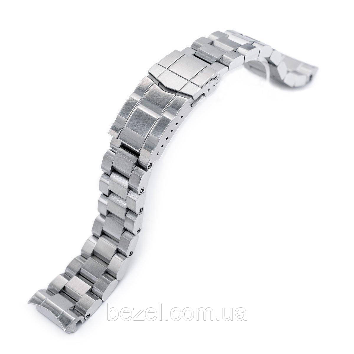 20mm Hexad Oyster 316L Stainless Steel Watch Band for Seiko MM300 Prospex Marinemaster SBDX001, Submariner Diver Clasp