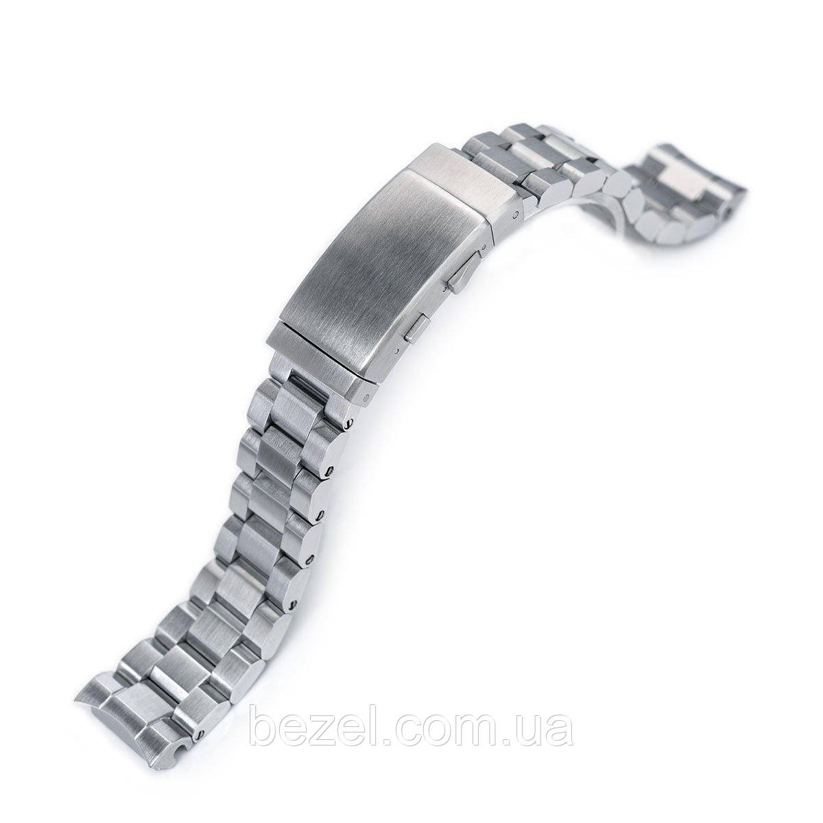 20mm Hexad Oyster 316L Stainless Steel Watch Band for Seiko MM300 Prospex Marinemaster SBDX001, Wetsuit Ratchet Buckle