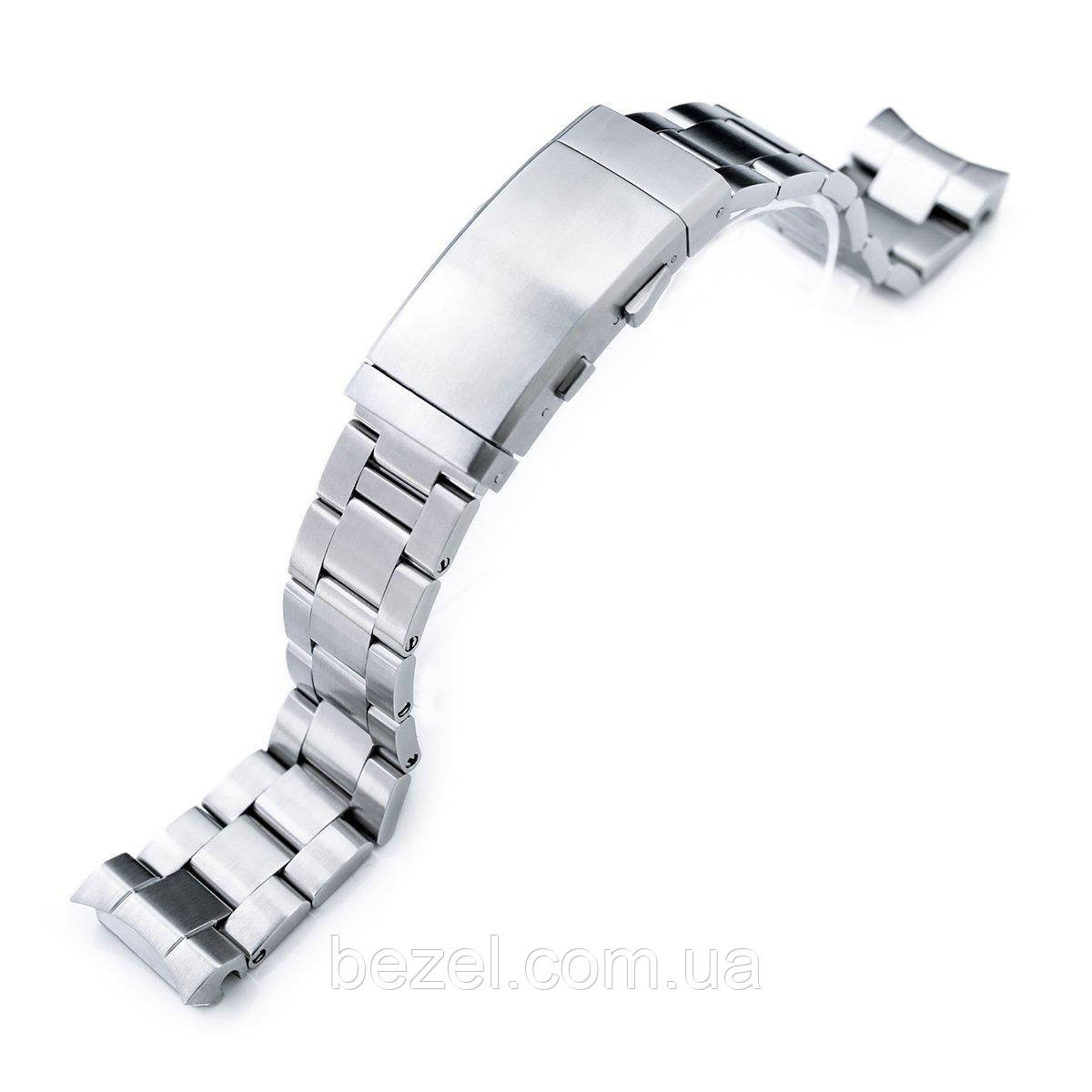 20mm Super Oyster watch band for Seiko MM300 Prospex Marinemaster SBDX001 SBDX017, Brushed, Wetsuit Ratchet Buckle