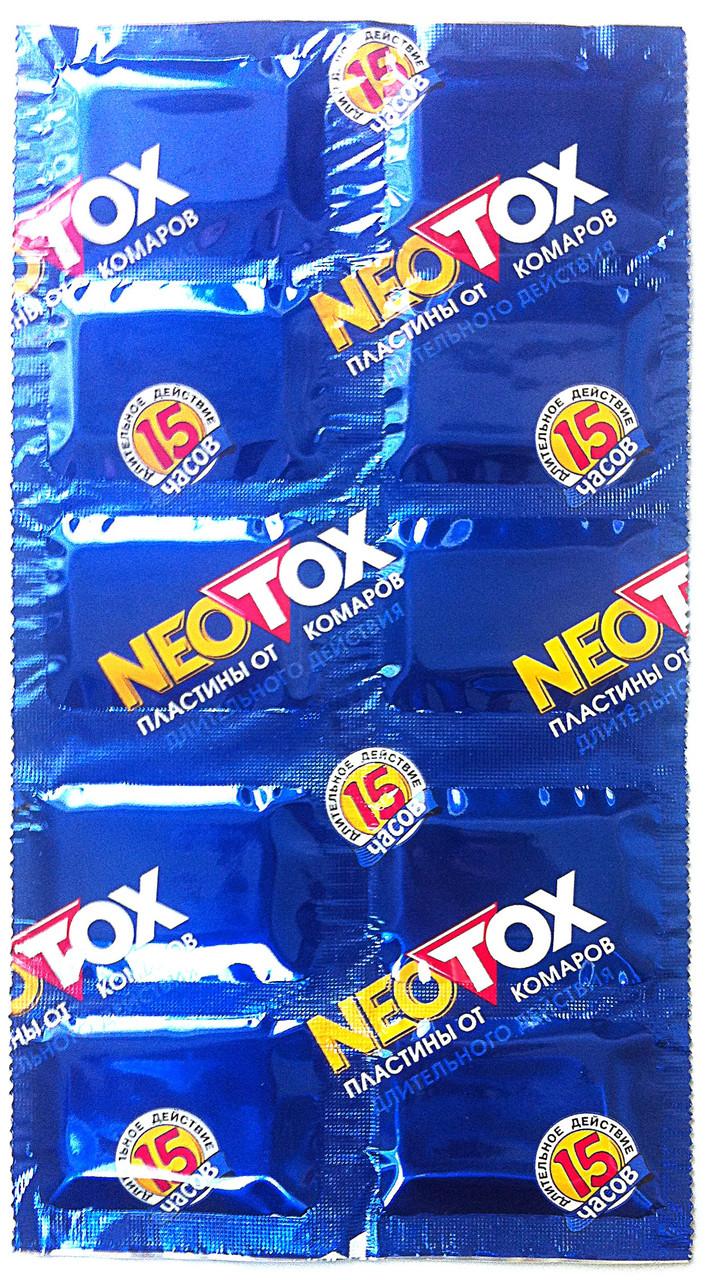 Таблетки пластины от комаров Неотокс neotox, длительного действия 10 шт.