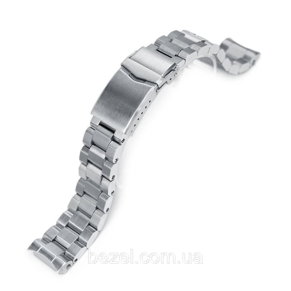 20mm Hexad Oyster 316L Stainless Steel Watch Band for Seiko MM300 Prospex Marinemaster SBDX001, V-Clasp Button Double Lock
