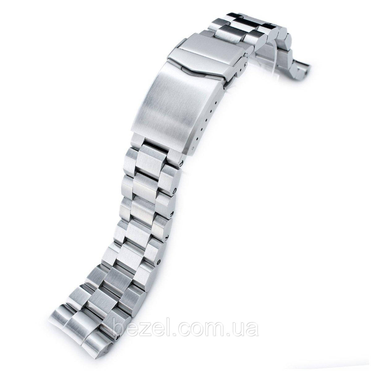 22mm Hexad Oyster 316L Stainless Steel Watch Band for Seiko New Turtles SRP777 & PADI SRPA21, V-Clasp Button Double Lock Brushed