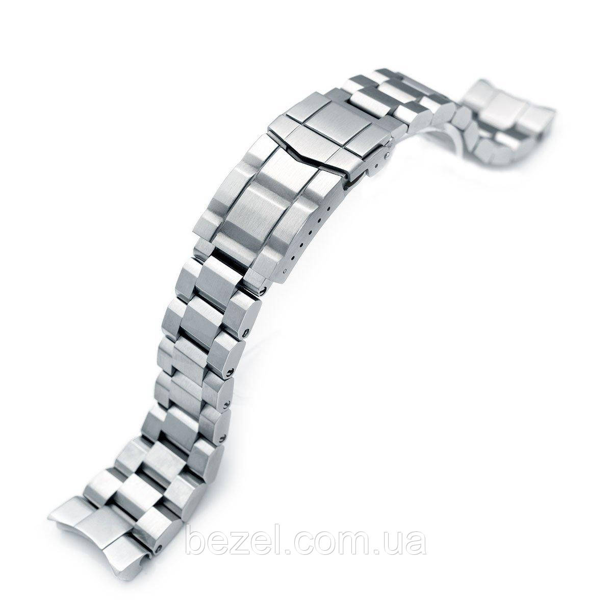 22mm Hexad Oyster 316L Stainless Steel Watch Band for Seiko Samurai SRPB51, Submariner Diver Clasp