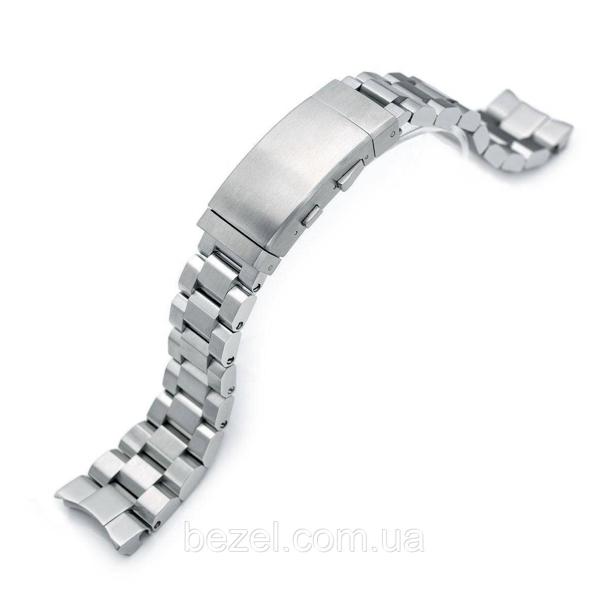 22mm Hexad Oyster 316L Stainless Steel Watch Band for Seiko Samurai SRPB51, Wetsuit Ratchet Buckle