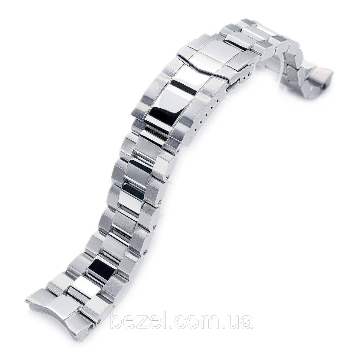 22mm Hexad Oyster 316L Stainless Steel Watch Band for Seiko Samurai SRPB51, Brushed & Polished Submariner Diver Clasp