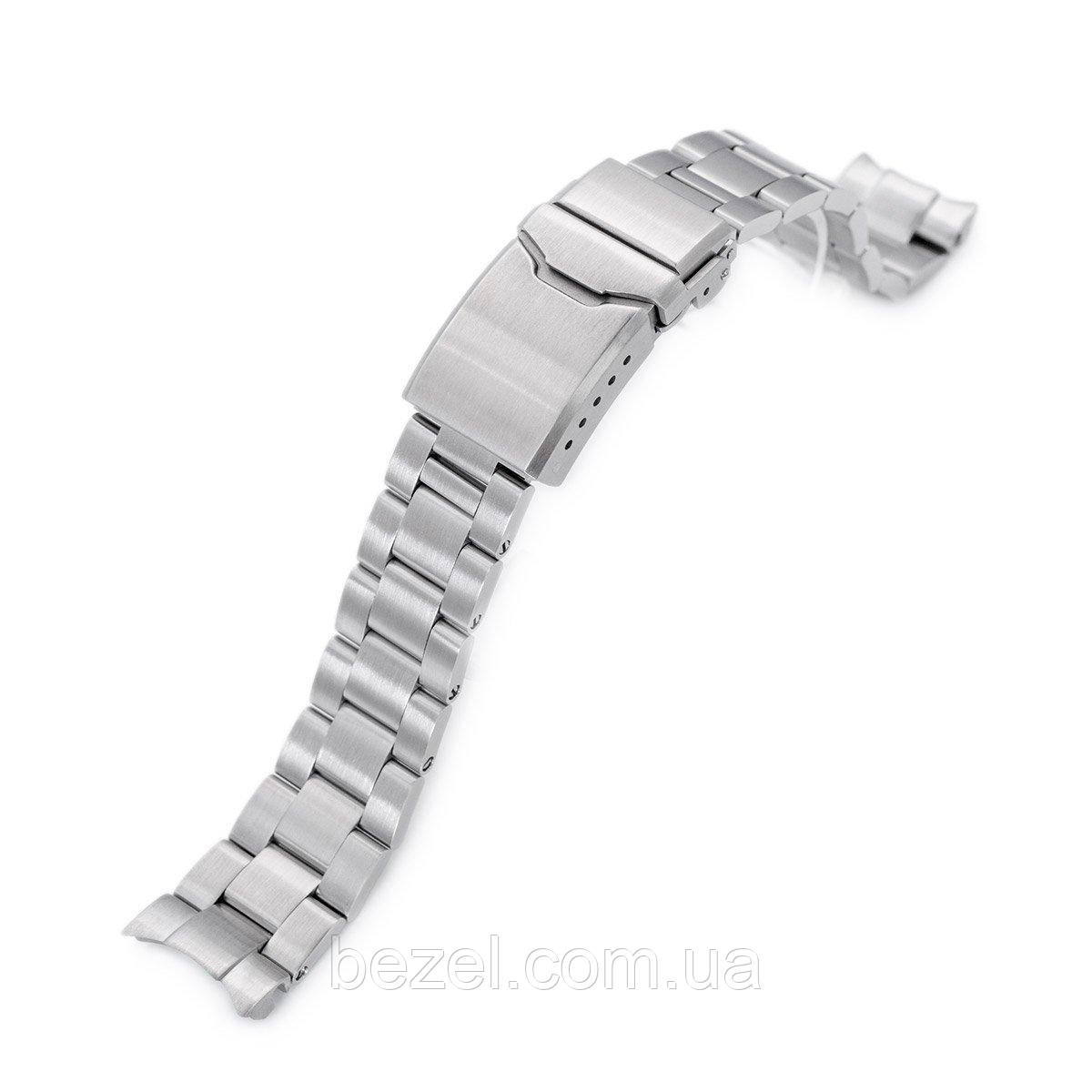 20mm Super 3D Oyster 316L Stainless Steel Watch Bracelet for Seiko Mechanical Automatic SARB033, Button Chamfer, Brushed