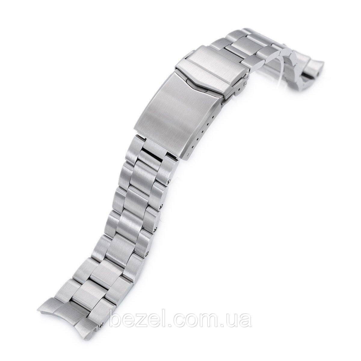20mm Super 3D Oyster 316L Stainless Steel Watch Bracelet for Seiko Mechanical Automatic SARB033, V-Clasp, Brushed