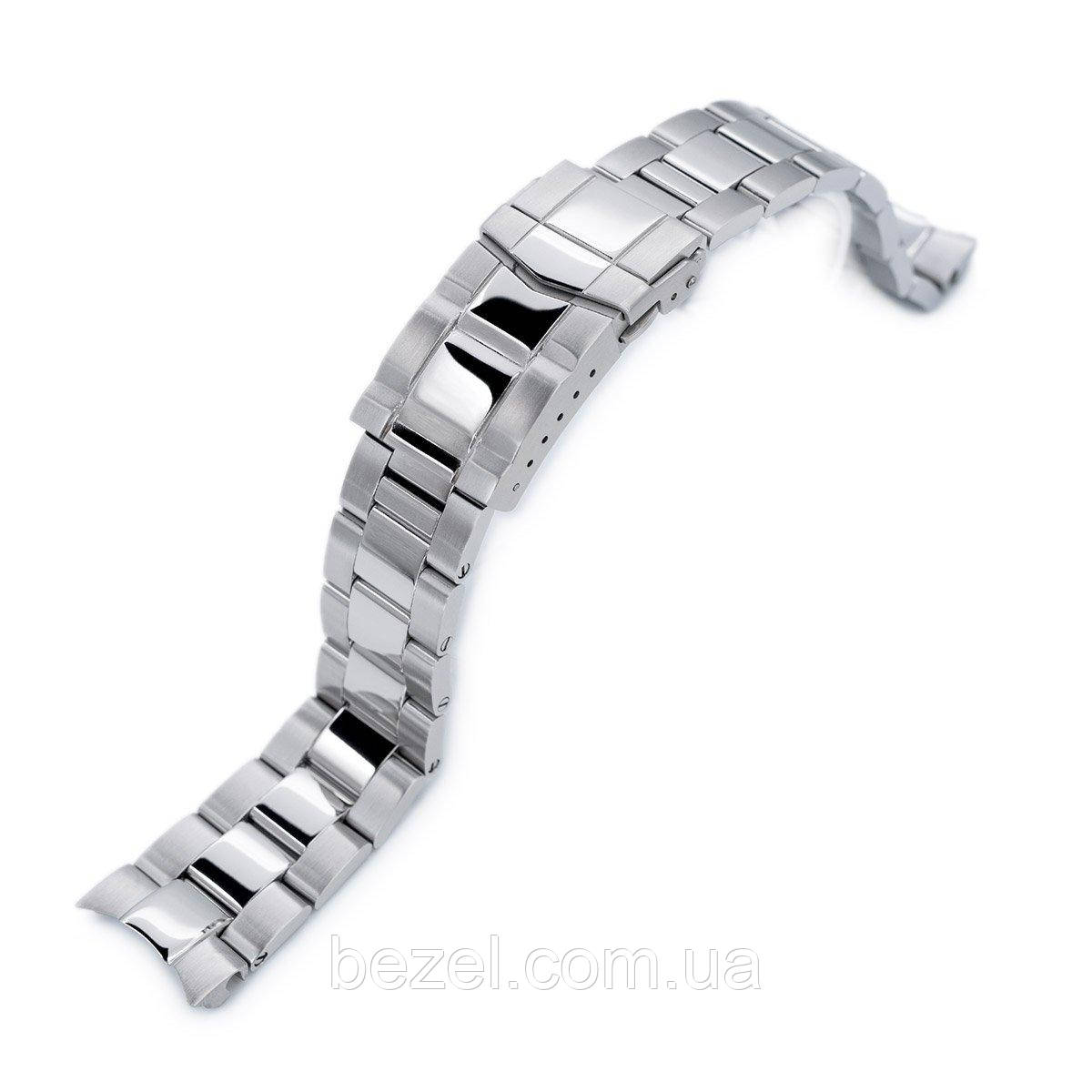 20mm Super 3D Oyster 316L Stainless Steel Watch Bracelet for Seiko Mechanical Automatic SARB033, Polish / Brush Submariner Clasp