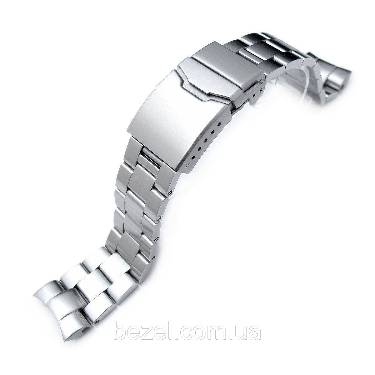 22mm Super Oyster Watch Bracelet for SEIKO SNZF17 Sea Urchin, Button Chamfer, Brushed