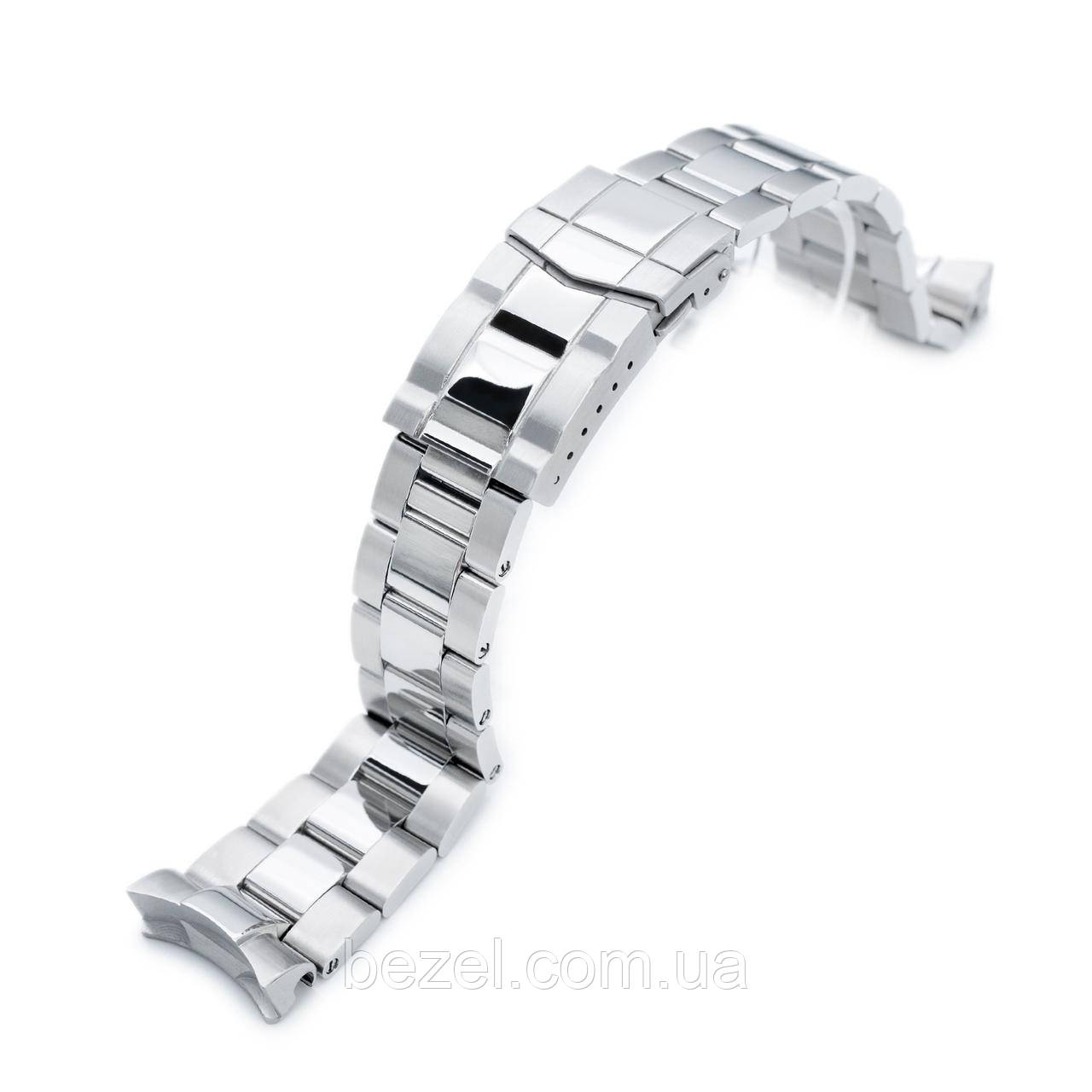 22mm Super Oyster watch band for SEIKO Diver SKX007/009/011, Brushed & Polished Submariner Clasp