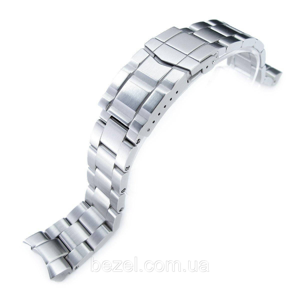 20mm Super Oyster Watch Bracelet for Seiko SKX013, Brushed 316L Stainless Steel, Sub-Clasp