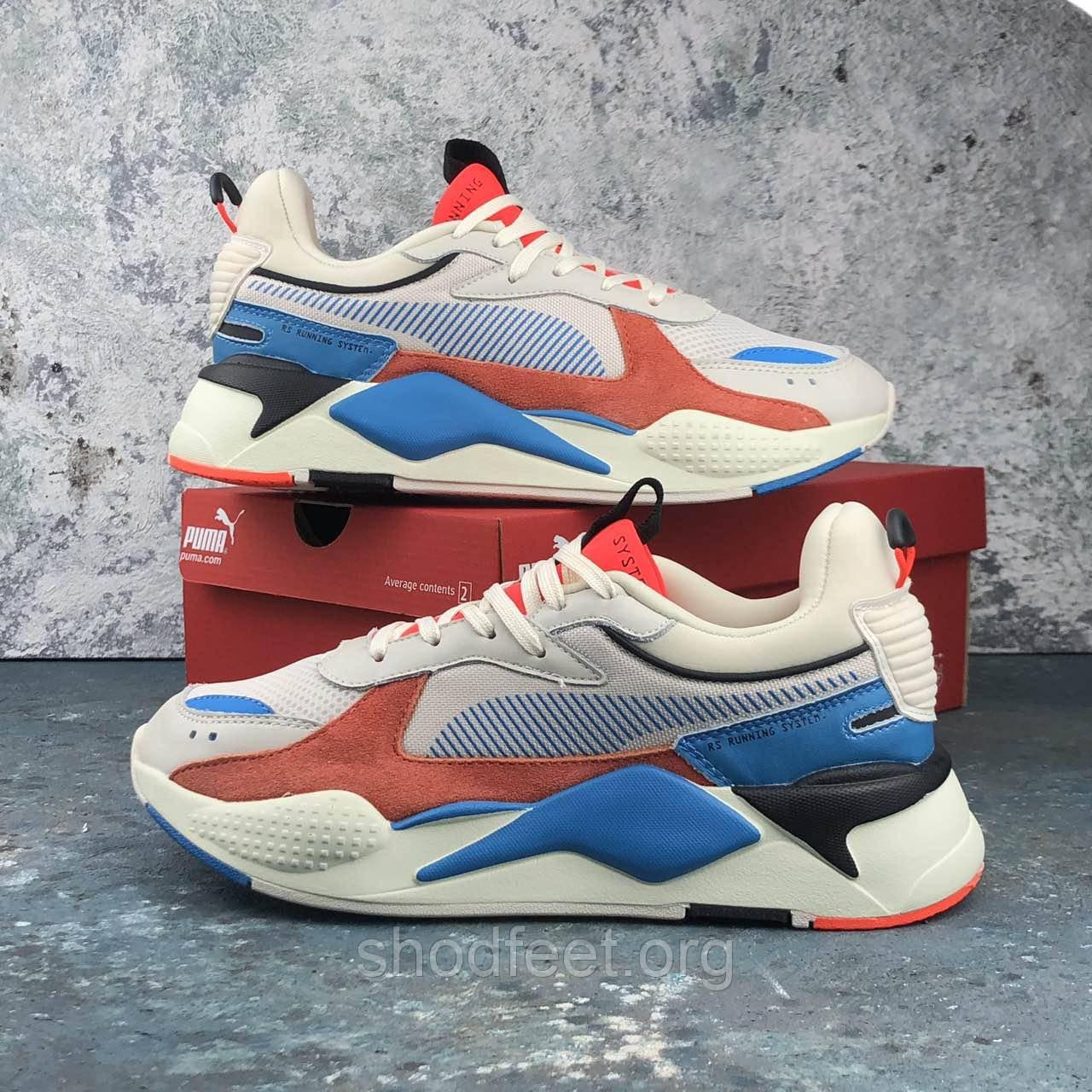 Мужские кроссовки Puma Rs-x Reinvention Cream Red Blue