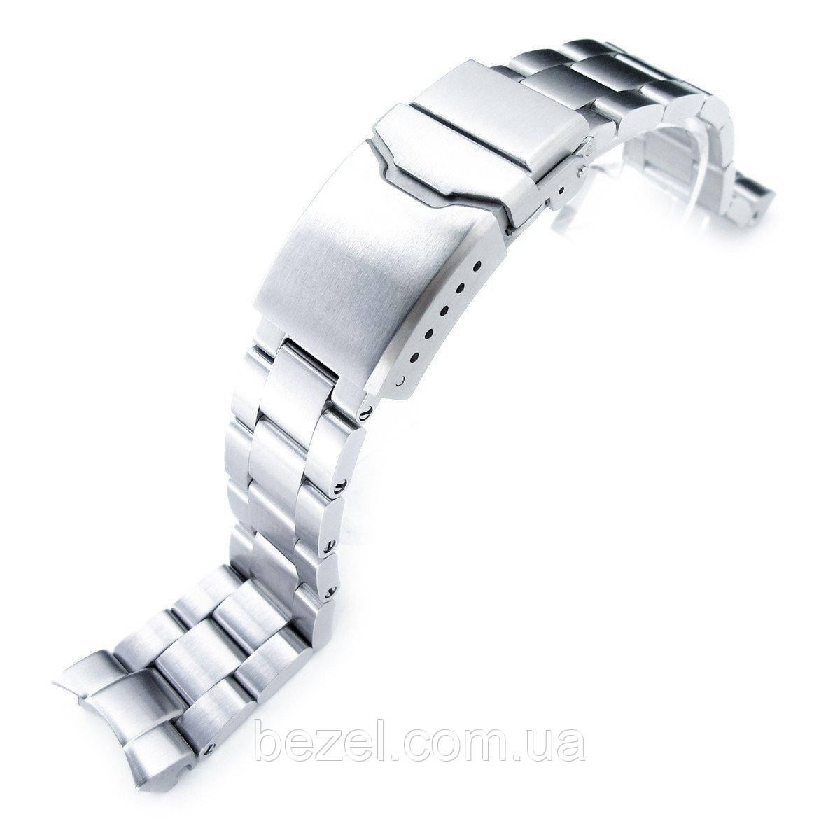 20mm Super Oyster Watch Bracelet for Seiko SKX013, Brushed 316L Stainless Steel, Chamfer