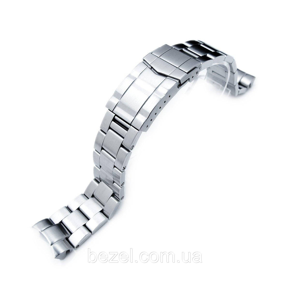 20mm Super Oyster Watch Bracelet for SEIKO Mid-size Diver SKX023, Solid Submariner Clasp, Brushed