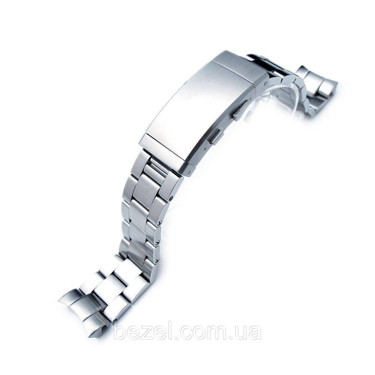 20mm Super Oyster Watch Bracelet for SEIKO Mid-size Diver SKX023, Ratchet Buckle, Brush