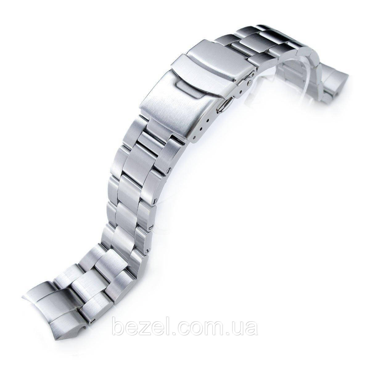 20mm Super Oyster Watch Band for Seiko Solar Power SSC015, 316L SS Diver Clasp Brushed