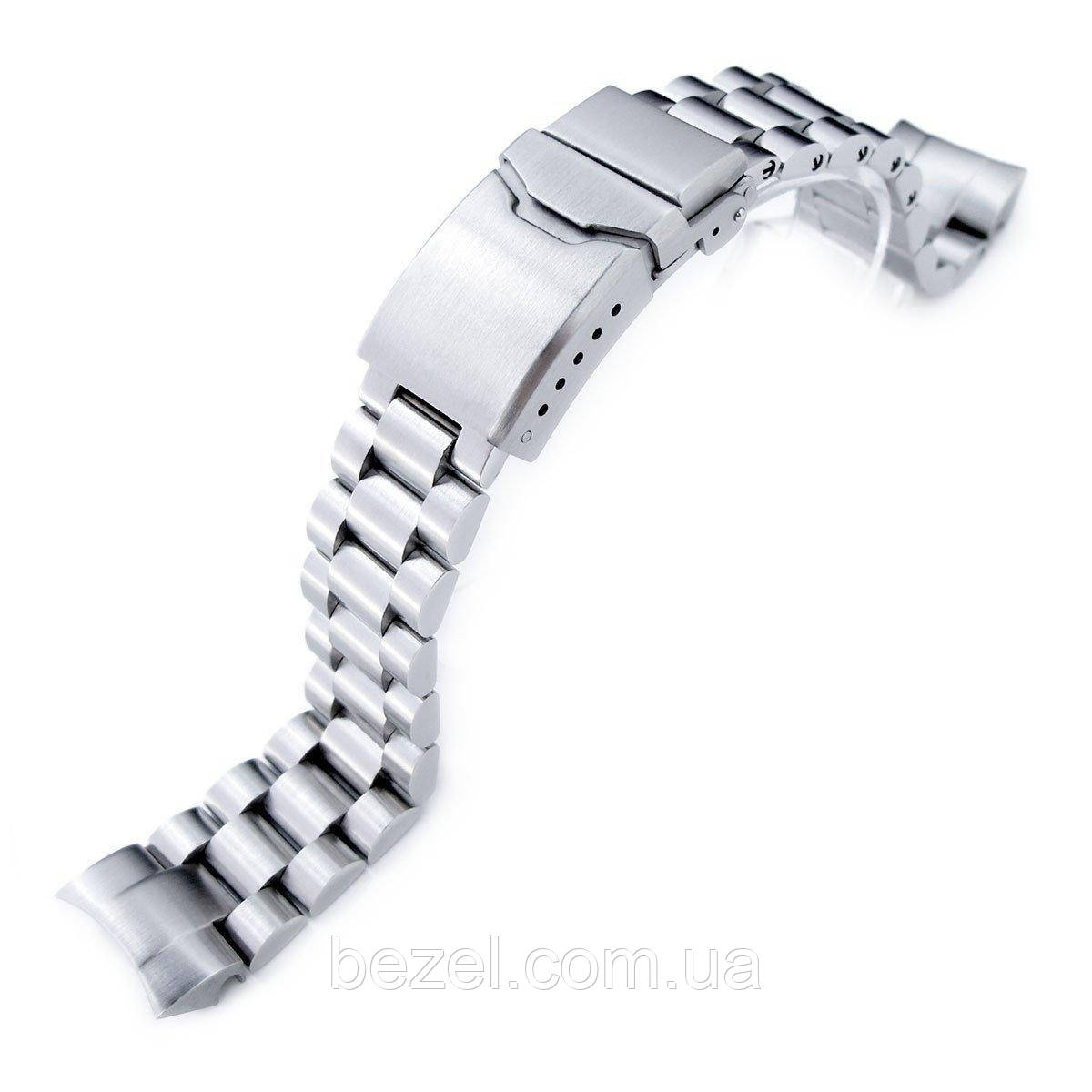20mm Endmill Watch Bracelet for Seiko Solar Power SSC015, 316L SS Chamfer Diver Clasp
