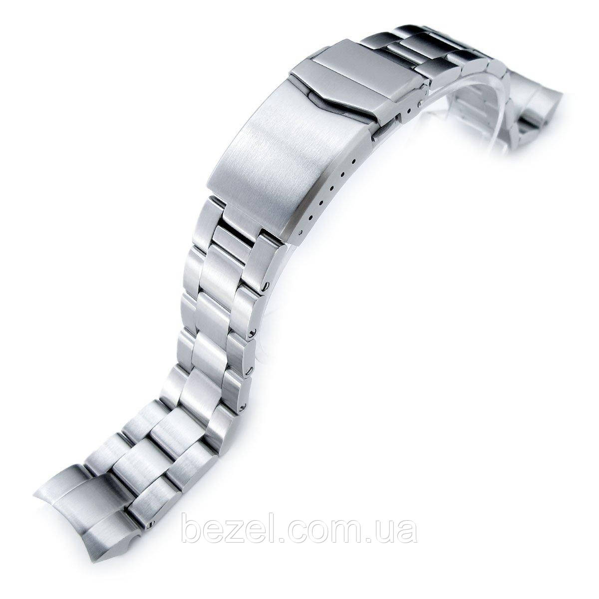20mm Super Oyster 316L Stainless Steel Watch Band for Seiko Solar Power SSC015, V-Clasp Button Double Lock