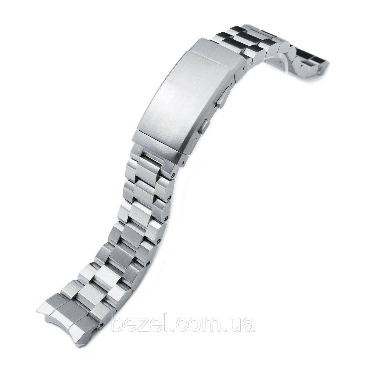 20mm Hexad Oyster 316L Stainless Steel Watch Band for Sumo SBDC001, Wetsuit Ratchet Buckle